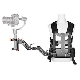 YELANGU B300 De três eixos de suporte de braço estabilizador de choque estabilizando o sistema de suporte à câmera fácil para DSLR & CÂMERAS DE VÍDEO DIGITAL DV (Preto)