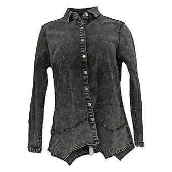 LOGO by Lori Goldstein Women's Top Long Sleeve Gray A377456