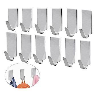 Adhesive Stainless Steel Towel Hooks