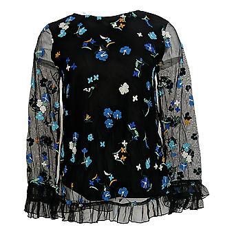 Du Jour Mujeres's Top Floral Bordado Azul A342173