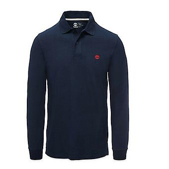 Timberland Earthkeepers Long Sleeve Mens Cotton Polo Shirt A1C86 433 A7D