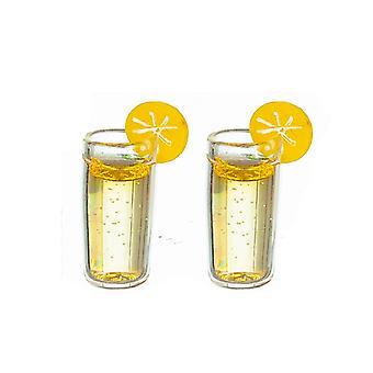 Dolls House 2 lasillista limonadia sitruunan ruokasalin baarin lisävarusteella