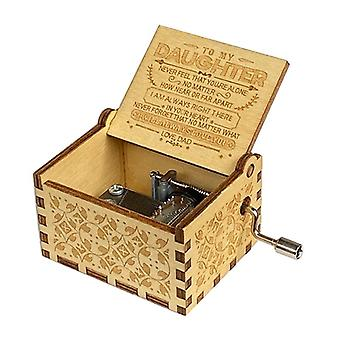 Wooden Hand-carved Vintage Music Box