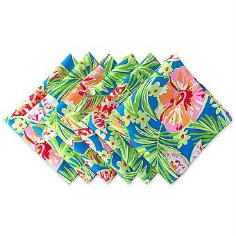 Dii verano floral impresión al aire libre Napkin (conjunto de 6)