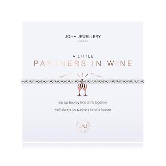 Joma Sieraden Een beetje partners in wijn zilver roségoud 17,5 cm stretch armband 3212