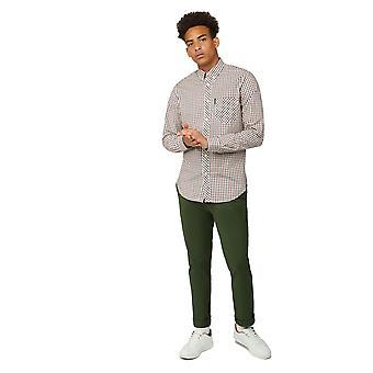 Ben Sherman Contrast Check Long Sleeve Shirt