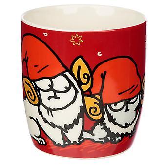 Caneca de porcelana de Natal - simon'gato
