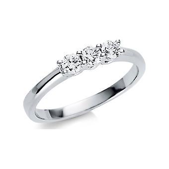 Luna Creation Promessa Ring Multiple Stone Trim 1U502W854-3 - Ancho del anillo: 54