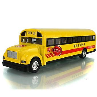 Skala legering trekke tilbake bil modell skole buss modell leketøy