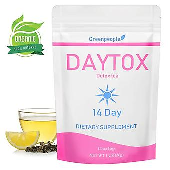 Green People Daytime Detox Tea 14 Days Herbal Thin Belly Tea Crude Effective