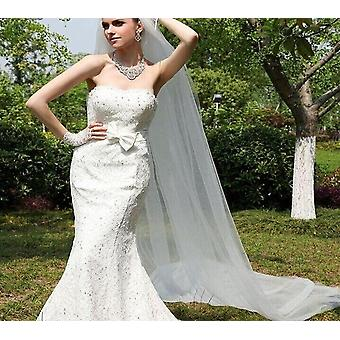 One-layer Wedding Veil With Comb