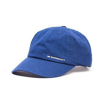 NN07 Logo Canvas Cap - Blue