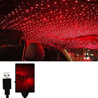 Auton tunnelmavalaisin, automaattinen kattokoriste värikäs led-tähden yövalojen projektori autoon / kotiin / juhlaan