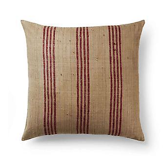 Spura Home Maa raidallinen käsin kudottu silkki vetoketju nykyaikainen 18x18 tyynytyyny