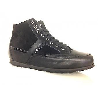 Kengät Nainen Galizio Torresi Sneaker Kiila Nahka ja Mokkanahka Musta D15gt02
