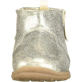 Carter's Every Step Girl's Infant 1st Walker Evvie Fringe Fashion Boot Ankle, Gold, 4 Toddler