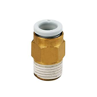 SMC Pneumatic Straight Threaded-To-Tube Adapter, M5 X 0.8 Male, Push In 1/4 In