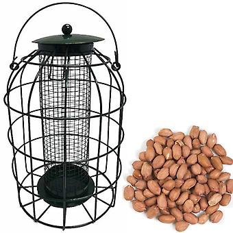 1 x Simply Direct Squirrel Resistant Guard Nut Feeder with 1.8KG Bag of Peanut Wild Bird Feed