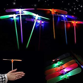 Fliegen Spielzeug, HanFei Licht Bambus Libellen LED Leuchtspielzeug, Kindergeburtstag Gastgeschenke,