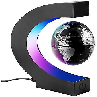 HanFei C-Form Magnetische Schweben Floaten Weltkarte Globus mit Led Display Sttze, Rotierende Erde
