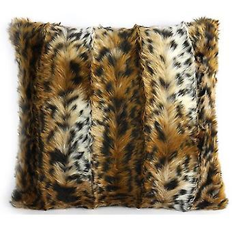 pillow animal 45 x 45 cm textile brown