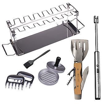 Kit de herramientas y accesorios de barbacoa de lujo