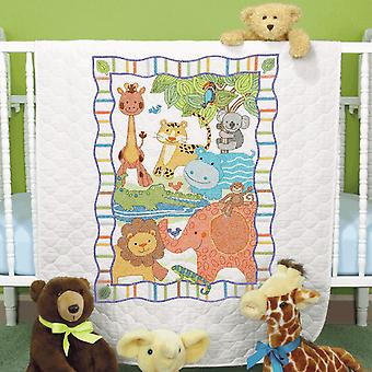Dimensions Stamped Cross Stitch: Quilt: Mod Zoo