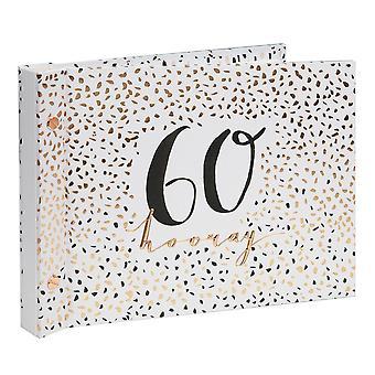 Luxe Ladies 60-vuotissyntymäpäivä valokuva-albumin vieraskirja
