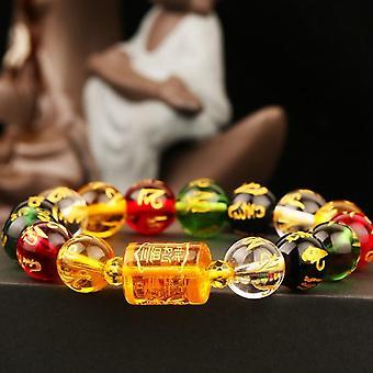 Element Colorful Crystal, God Of Wealth Bracelets, Men, Protection Luck Brave,