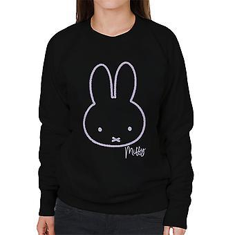 Nijntje Paars Karakter Hoofd Women's Sweatshirt