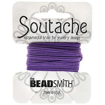 Beadsmith Soutache punottu johto 3mm leveä - tumma lila violetti (3 Yds)