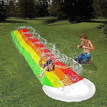 Children rainbow waterslide