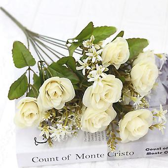 5pcs flor artificial rosa flor seca falso regalo de flores para las mujeres