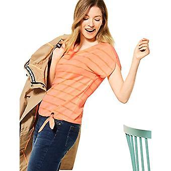 Cecil 316060 T-Shirt, Neon Cantaloupe Orange, XL Woman