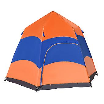 Outsunny Six Man Hexagon Pop Up Tent Camping Shelter Festival Hiking Family Portable