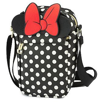 Disney Minnie Mouse Ears och Bow Patch Crossbody Vegan Läderväska