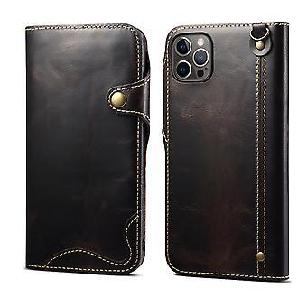 Slot per la custodia del portafoglio in vera pelle per samsung s10e nero pc1210