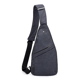 Zwarte waterdichte sporttas met één schouder, ultradunne mini crossbody tas (20cm * 1,5 cm * 36)