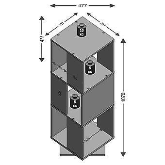 FMD Draaibare archiefkast Open vakken 34×34×108 cm Wit