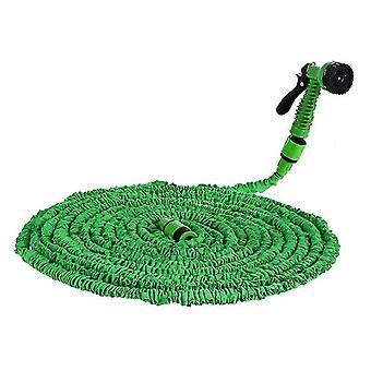 25Ft green 3 times retractable garden high pressure water pipe for watering cleaning az8102