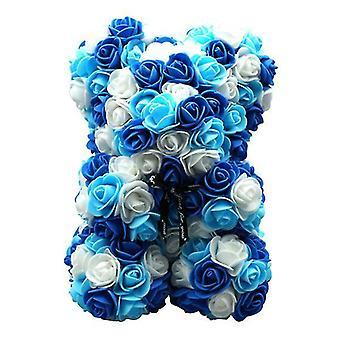 Sininen 1 # ystävänpäivä lahja 25 cm ruusukarhu syntymäpäivä lahja £, muistipäivän lahja nallekarhu az17175