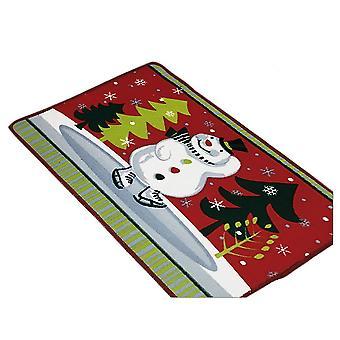 45*70 Cm mørk rød snemand juleserie stueetagen foddør måtten tæppe dt1665