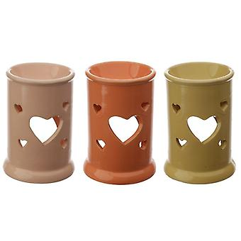 Eden Tall Ceramic Oil and Tart Burner with Heart Cut-out