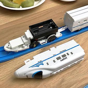Kinderen elektrische trein speelgoedspoor kid food set rail simulatie model