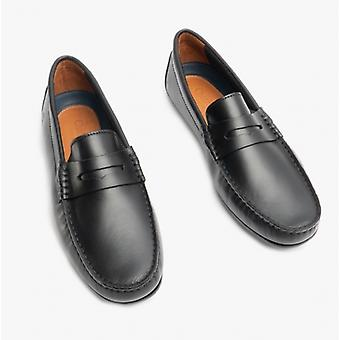 Chatham Timor G2 Mens Leather Driving Moccasin Shoes Black