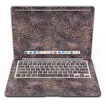Padrão de leopardo-de-aquarela preto e roxo - Kit de pele de ar macbook