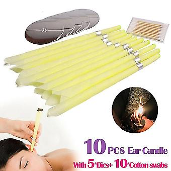 Ear care ear candles ear wax clean removal natural beeswax propolis indiana therapy fragrance candling cone candle relaxation