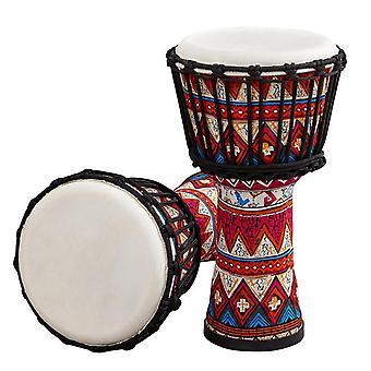 8 بوصة طبل الأفريقية المحمولة djembe طبل اليد مع أنماط الفن الملونة قرع آلة موسيقية