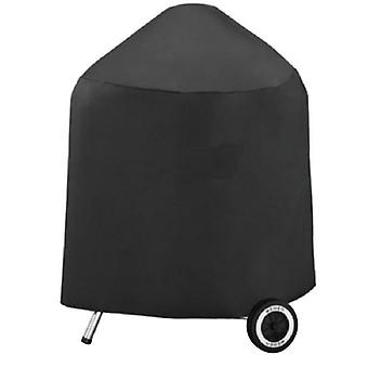 Round BBQ Garden Barbecue Grill Cover Outdoor Waterproof Smoker Kettle Protector