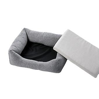 Hundematte Bett waschbares Baumwollleinenmaterial für kleine mittelgroße Hunde